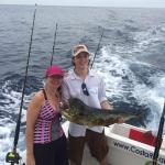 Our first Mahi Mahi - caught about 1 hour into our trip (and eaten about 2 hours after our trip)