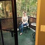 On our balcony in our rainforest cabin