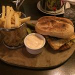 The mushroom and halloumi burger in the hotel, delicious!!