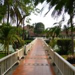 Walkway to rooms