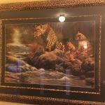 Leopard decor motif