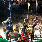Getting ready for jousting.