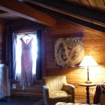 King Suite in the coach house is a cozy and romantic room, spacious, well appointed and semi-pri