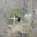 One of the features on the grounds...an angel sitting near and empty tomb