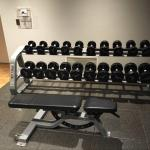 Small gym, but very nice. DBs to 50lbs, all newer modern equipment