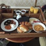 We had to choose the night before what we wanted for breakfast for room service. It was beautifu