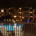 Pool and north rooms at night...WOW!!!