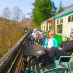 Afternoon tea in the glenfinnon carriage in glenfinnon station