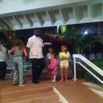 """Staff dancing on the """"red carpet"""" with our kids."""