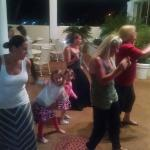 Line dancing the night away Bahama style