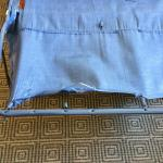 Torn and frayed support for sofa bed