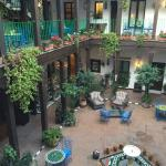 Hotel Courtyard from our room door