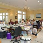 CHAOS Scrapbooking Group set up in our Conservatory. 18 years and going with this group!
