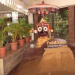 The Sudarshan Pattnaik sand sculpture at the entrance