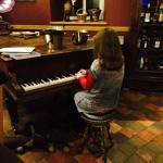 Daughter playing the piano (out of tune unfortunately!)