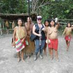 with a local tribe