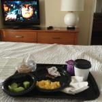 Breakfast in bed-brought back to the room