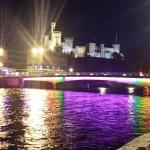 Night time View outside Premier Inn Inverness River Ness