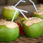 Chilled coconut juice
