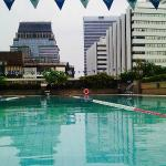 Swimming pool in another building across the street