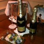 Champagne in room on arrival