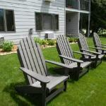 Backyard with Adirondack Chairs