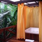My wife's bathtub during our stay. Casita (villa) #35, btw...
