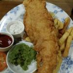 Fish and chips from the set menu