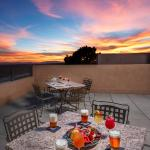 Metate Room Lounge Terrace at Sunset