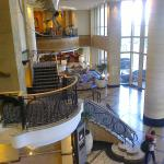 Lobby viewed from restaurant