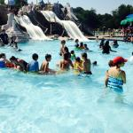 Water Slides and shallow wading area