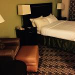King Bed- very comfortable and the pillows are great!