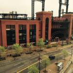 Busch stadium from room