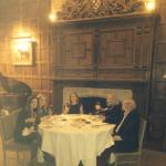 Dinner in the castle was a real treat