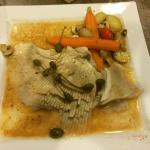 Skate wing and veges
