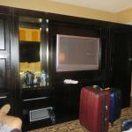 TV unit with closets