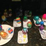 Drying step of the Easter Eggs Painting Activity