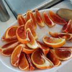 disguesting oranges offered during breakfast buffet