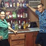 Ivette and Jimmy at the Tiki bar !!