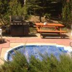 Jacuzzi deck with BBQ
