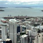 View of Aukland waterfront from 14th floor