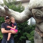 My little one was scared of the trolls in front of the Weta Cave.