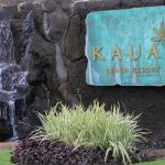 front sign with waterfall
