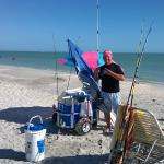 4 Rod's Dave holding a fishing master class