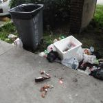 garbage outside our door