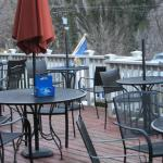 Outdoor seating (too cold for me)