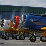 T-6's on the ground ready to roll at a museum Fly Day - photo by  Thomas McCleave