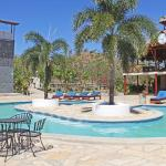 Pool, rock climbing and reception