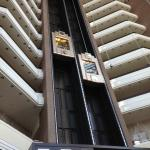 A view of the glass elevators