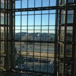 A view from the glass elevators